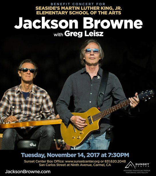 Jackson Browne Announces Benefit Concert To Support Seaside's Martin Luther King, Jr. Elementary School Of The Arts