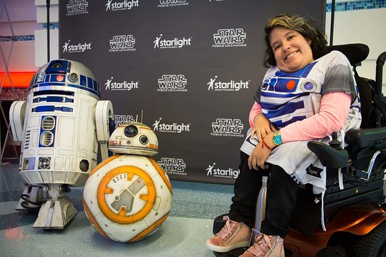 Pediatric patients at CHOC Children's Hospital enjoy first-ever distribution of new Star Wars-themed Starlight Brave Gowns