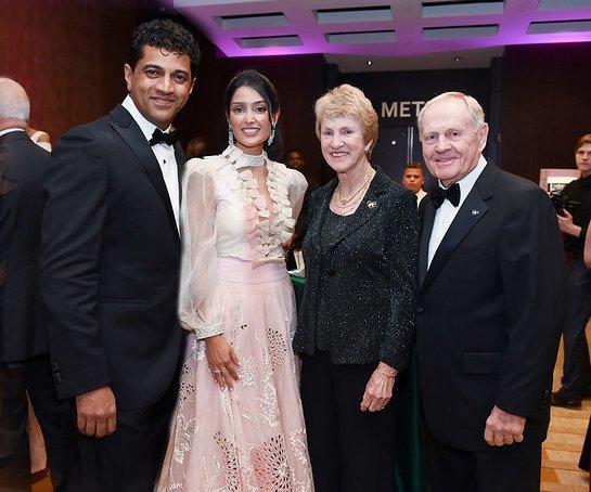 Dr. Narendra Kini and Ravneet Chowdhury with Barbara and Jack Nicklaus
