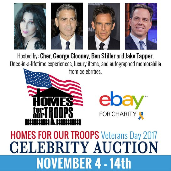 Homes For Our Troops Veterans Day Celebrity Auction