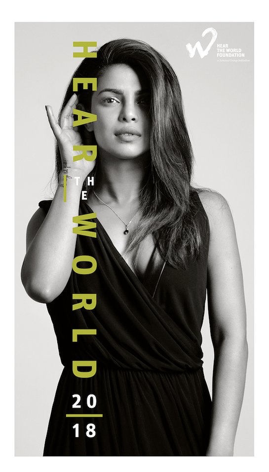 2018 Hear The World Calendar cover with Priyanka Chopra
