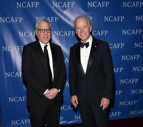 2017 National Committee on American Foreign Policy honorees David M. Rubenstein and Joe Biden
