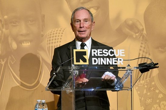 Michael Bloomberg Accepts Freedom Award