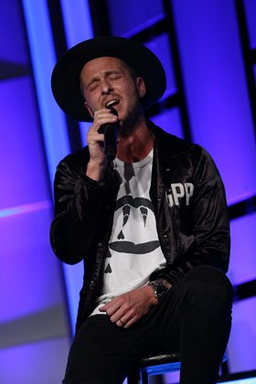 Ryan Tedder of OneRepublic performs as Human Rights Watch presents the Voices For Justice Annual Gala