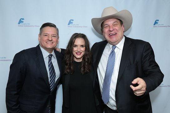 Ted Sarandos, with actress Winona Ryder, and actor/comedian Jeff Garlin