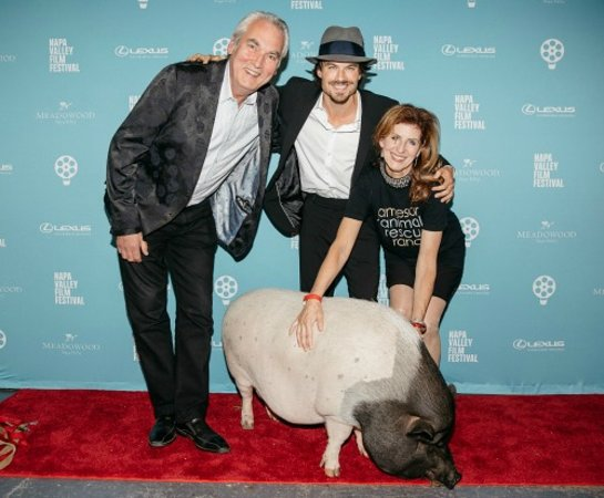 Ian Somerhalder and Nikki Reed Receive the Jameson Animal Rescue Ranch Humanitarian Tribute at the Napa Valley Film Festival