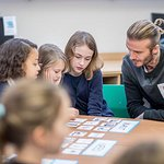 David Beckham Makes Surprise Visit To London School On World Children's Day