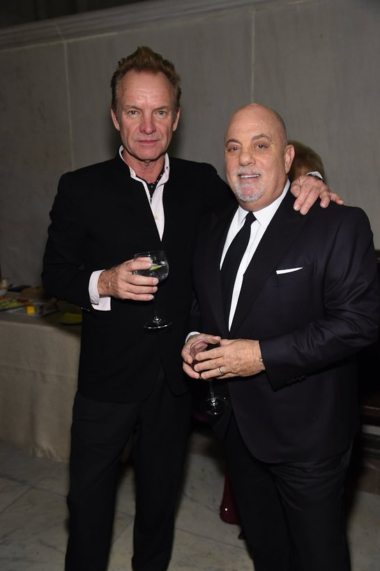 Sting and Billy Joel attend the Elton John AIDS Foundation New York Fall Gala