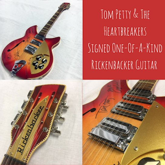 Tom Petty and the Heartbreakers Signed Rickenbacker