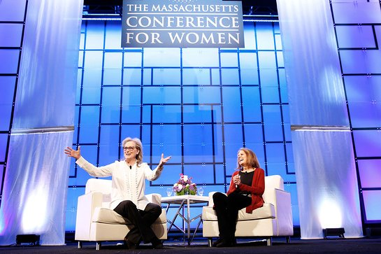 Meryl Streep and women's rights pioneer Gloria Steinem discuss the nation's pivotal shift in workplace culture
