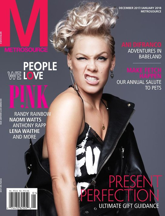 Pink on Cover of Metrosource