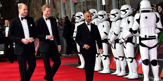 Prince William and Prince Harry Attend Premiere of Star Wars: The Last Jedi