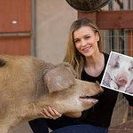 Joanna Krupa Adopts A Pig For The Holidays