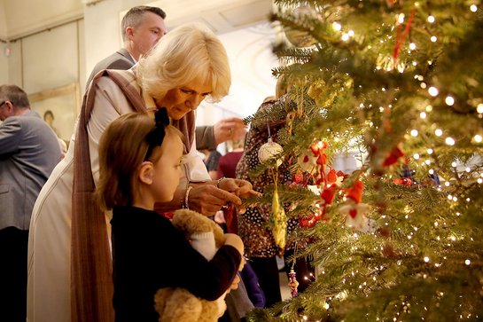 The Duchess of Cornwall at the decorating of the Christmas tree at Clarence House