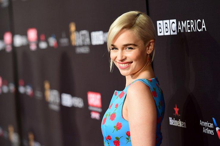 Emilia Clarke Attends BAFTA Los Angeles Tea Party