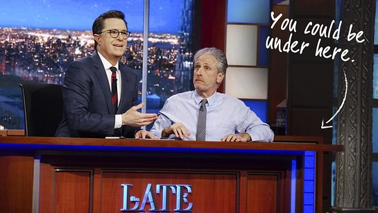 Live Under Stephen Colbert's Desk with Jon Stewart