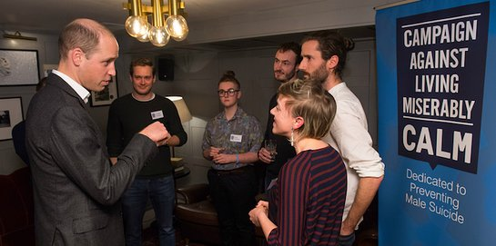 The Duke of Cambridge meets men's mental health campaigners