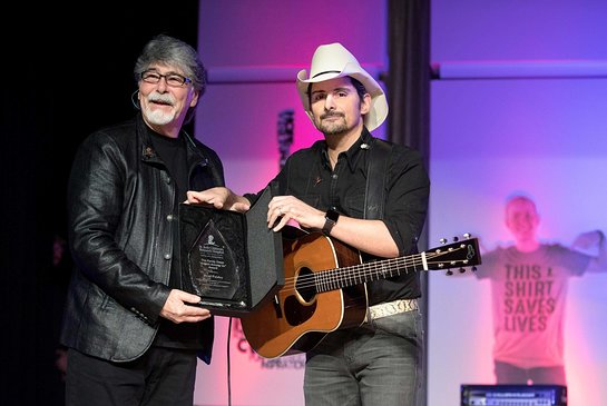 ALABAMA front man and co-founder of Country Cares for St. Jude Kids, Randy Owen, presented the award to Paisley