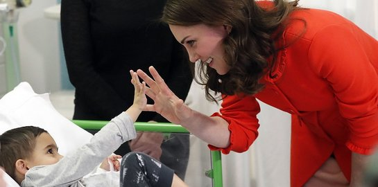 Duchess of Cambridge visits Great Ormond Street Hospital
