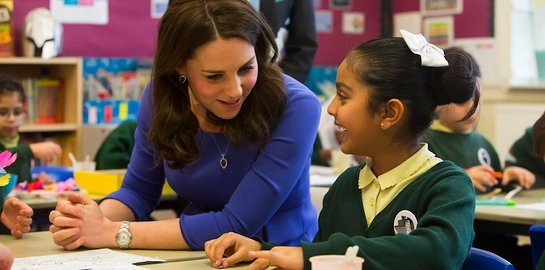 Duchess of Cambridge at Roe Green Junior School