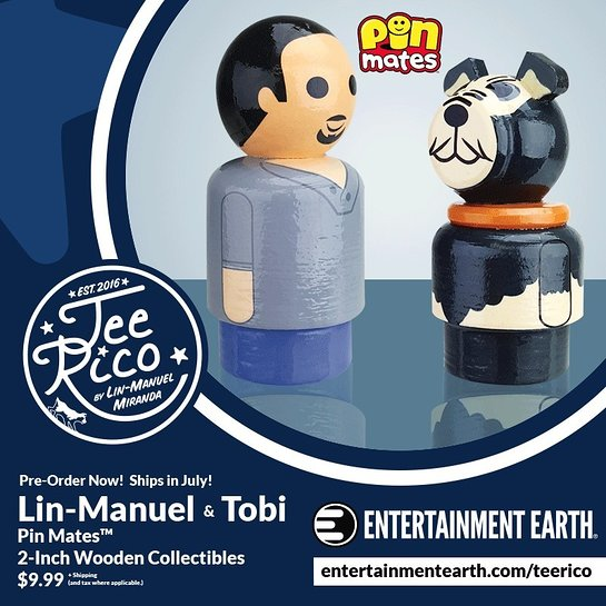 Lin-Manuel and Tobi Pin Mates Wooden Collectibles