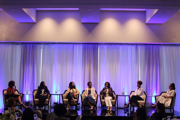 The panel at NBWA Women's Empowerment Summit Luncheon on Saturday, February 17, 2018, covered the importance of empowerment and mentorship.