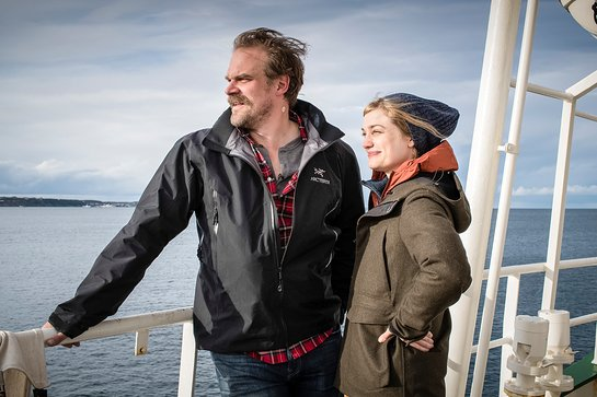 Alison Sudol and David Harbour on a Greenpeace expedition to help make the case for an Antarctic Ocean Sanctuary