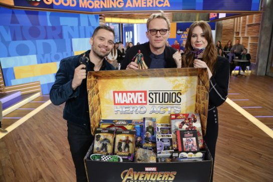 Avengers: Infinity War cast Sebastian Stan, Paul Bettany and Karen Gillan support Marvel: The Universe Unites #HeroActs