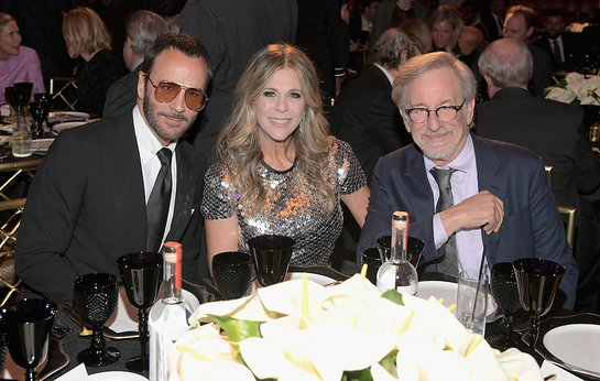 Rita Wilson and Steven Spielberg