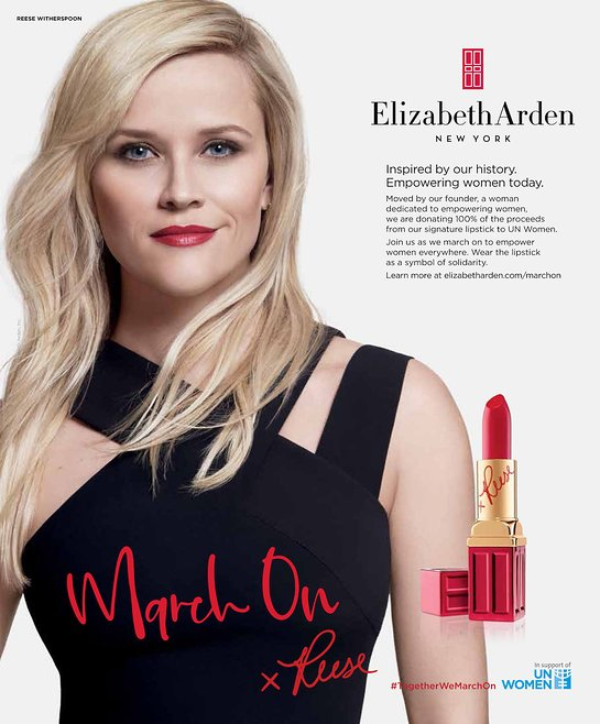 Elizabeth Arden March On Campaign Print Advertisement featuring Reese Witherspoon