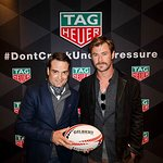 Chris Hemsworth Joins Tag Heuer And Kids At World Rugby Sevens