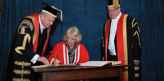 Duchess of Cornwall receives an Honorary Doctorate