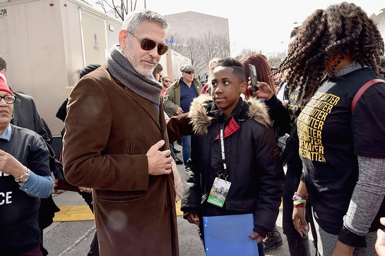 George Clooney attends March For Our Lives on March 24, 2018 in Washington, DC