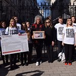Brian May Joins Charities to Deliver 425,000 Signatures Calling for a UK Fur Trade Ban