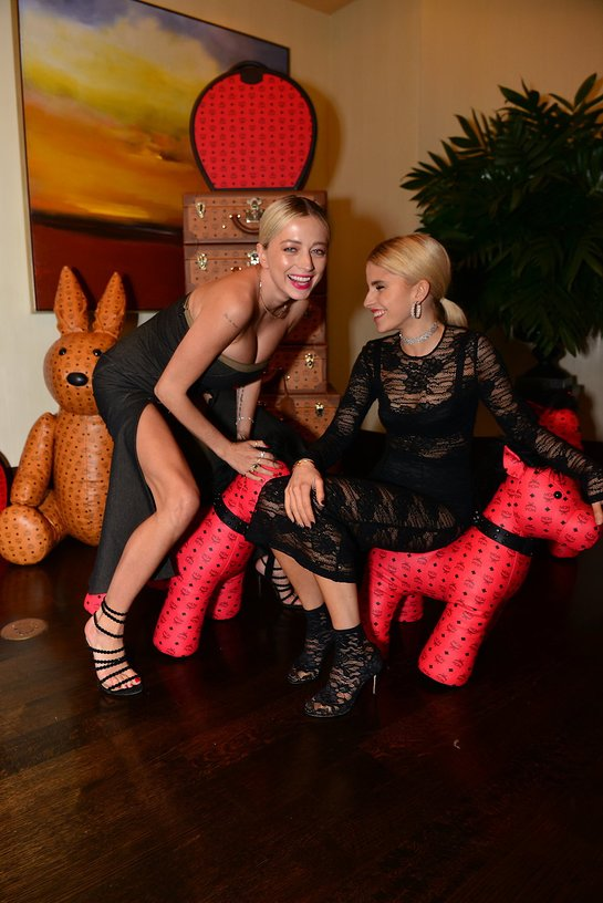 Caroline Vreeland and Caroline Daur at MCM x (RED) Daily Front Row FLA After Party