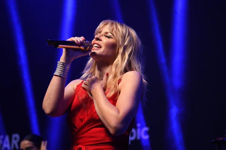 Kylie Minogue Performs At amfAR Hong Kong Gala