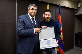 UNWTO Secretary-General, Zurab Pololikashvili, appointed Messi as UNWTO Ambassador for Responsible Tourism