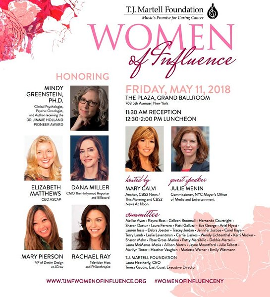 T.J. Martell Foundation 2018 Women of Influence Awards in New York