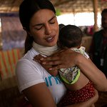 UNICEF Goodwill Ambassador Priyanka Chopra Meets Rohingya Refugee Children in Bangladesh Camps