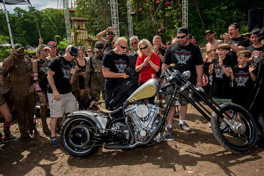 Spartan Founder and CEO Joe De Sena joined the stars from the Discovery Channel's hit reality TV show American Chopper