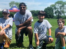 Kenyan Drake attends Smile Train's Second Annual Family Fun Day