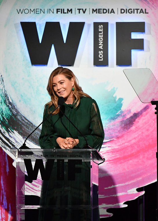Ellen Pompeo Speaks Onstage
