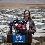 Angelina Jolie Speaks From Domiz Refugee Camp In Iraq