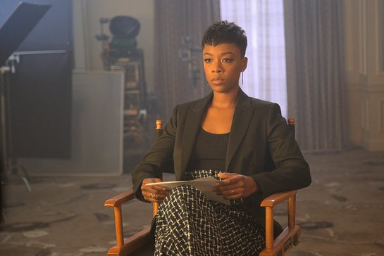Samira Wiley, who plays Moira in Hulu's The Handmaid's Tale, filming Hope Lives in Every Name