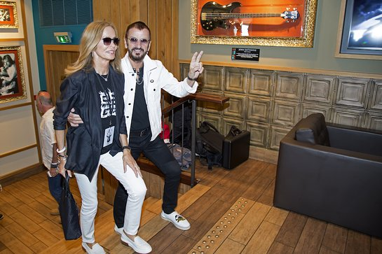 Ringo Starr celebrates his 78th birthday at Hard Rock Cafe Nice