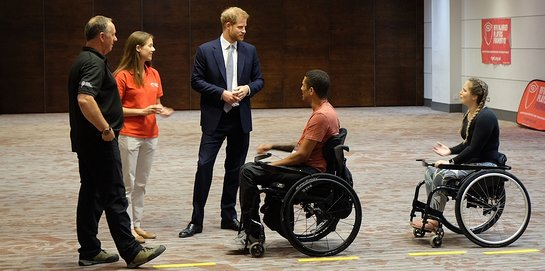 Duke of Sussex visits RFU Injured Players Foundation