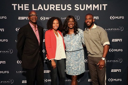 Edwin Moses, Allyson Felix, Benita Fitzgerald Mosley and Chris Paul