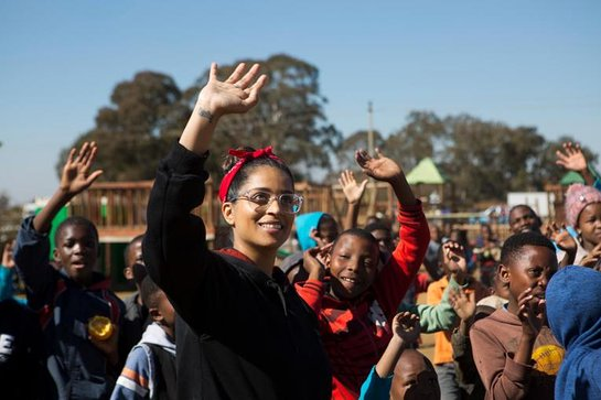 Lilly Singh visits South Africa to meet students