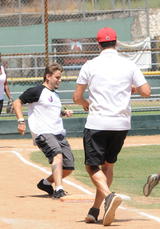 Prinz Jackson besucht das Celebrity Softball Game der Dee Dee Jackson Foundation