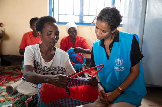 UNHCR High profile supporter Gugu Mbatha-Raw meets refugees